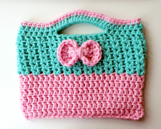 Cutie Bow Crochet Bag Pattern Usa Kerry Jayne Designs