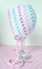 Baby crochet bonnet pattern