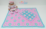 Granny square crochet blanket pattern