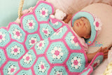 Baby hexagon blanket pattern