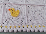 Yellow duck crochet pattern