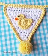 Crochet Duck applique pattern