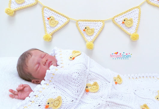 Duck applique crochet pattern