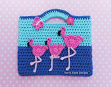 Dancing Flamingo Bag Pattern USA