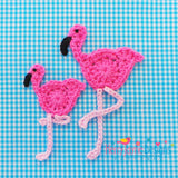 Crocheted flamingoes pattern