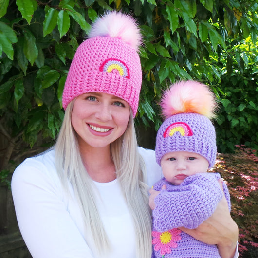 Rainbow hat Crochet Pattern