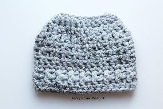 Fun Bun Beanie Crochet Pattern USA – Kerry Jayne Designs 93eb9d0b2c65