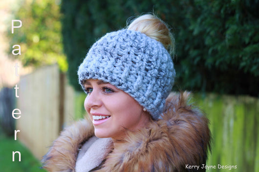 ... Crochet messy Bun hat pattern  Messy bun hat patterns ... 5b12839299a7