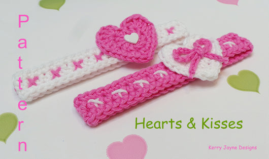 Hearts and Kisses headband pattern