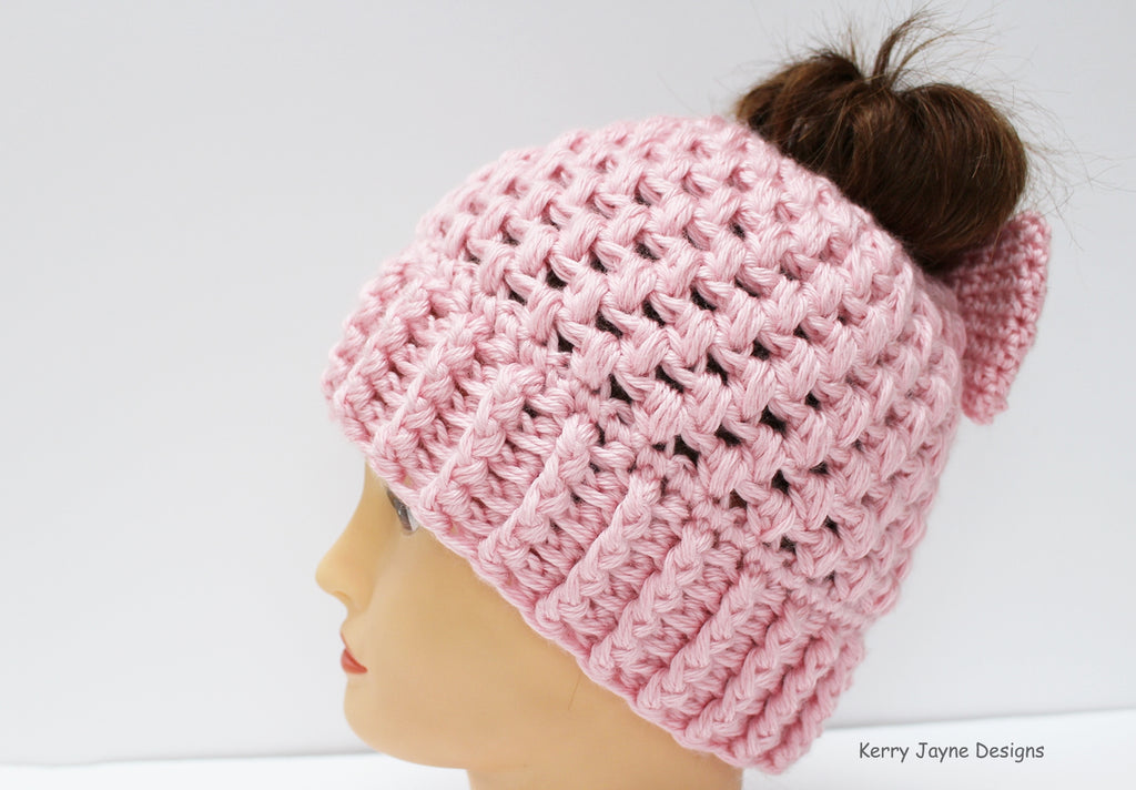 Hepburn Bow Hat Pattern UK – Kerry Jayne Designs 3e401c66f823