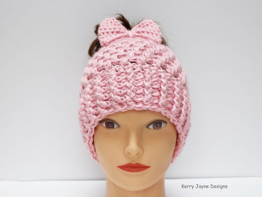 Messy bun hat pattern  Hepburn messy bun hat pattern ... 15f351251b76