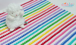 Rainbow baby blanket crochet pattern