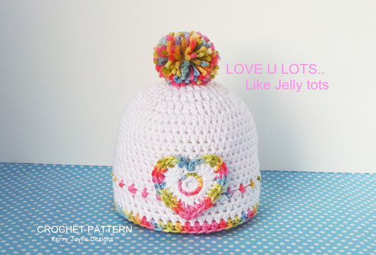 Jelly Tots Crochet Hat pattern