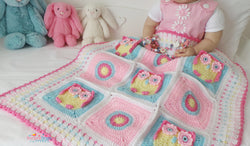 Owl crochet blanket pattern