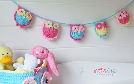 Owl Garland Crochet pattern