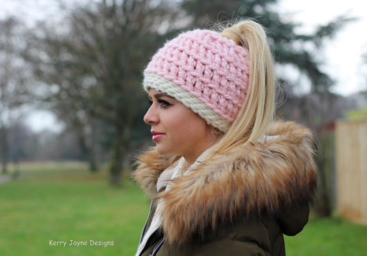 Messy Bun hat crochet pattern  Ponytail hat crochet pattern  crochet bun hat  patterns ... 19763418b131