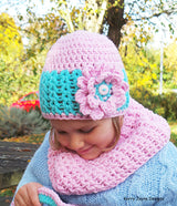 Beautiful Hat and cowl crochet pattern