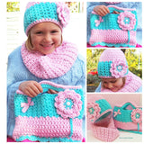 Lucy Locket Crochet Hat, Cowl and Bag Set