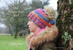 magic messy bun hat pattern