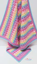 Colourful baby blanket crochet pattern