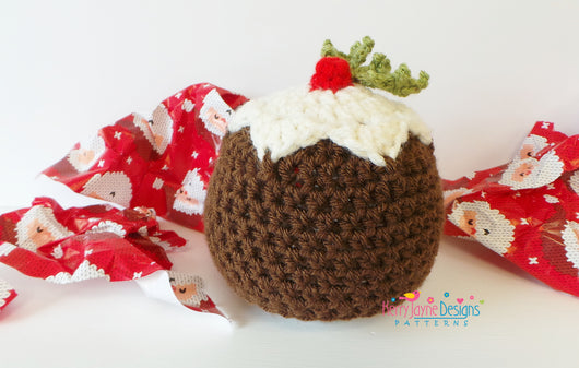Christmas Pudding Crochet Hat Pattern Kerry Jayne Designs