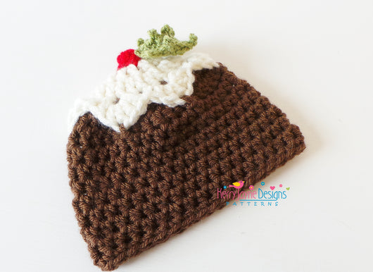 Crocheted Christmas Pudding hat  Crochet Christmas pudding hat Pattern   Mummys Little Pudding Hat  Kerry Jayne Designs 9a803a1a27f8