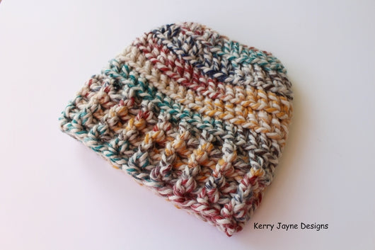 Crochet messy bun hat  Crochet for messy bun beanie  Messy bun beanie  pattern 5d3e7ba7f572