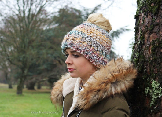 My Messy Bun Hat Crochet Pattern USA – Kerry Jayne Designs 79bd851ddbaa