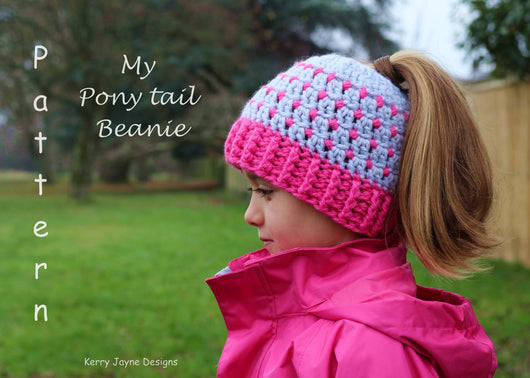 My ponytail hat pattern