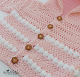 Baby hooded crochet jacket pattern