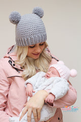 Mummy and baby crochet hat pattern
