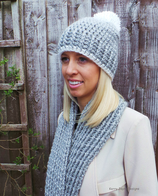 Scarf crochet and hat pattern