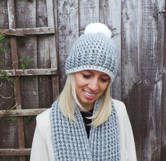 Nordic Ribbed Hat And Crocheted Scarf Pattern Uk Kerry Jayne Designs