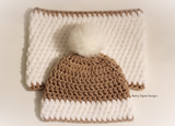 Nordic Snow Hat and Cowl Set 2 - Crochet Pattern UK