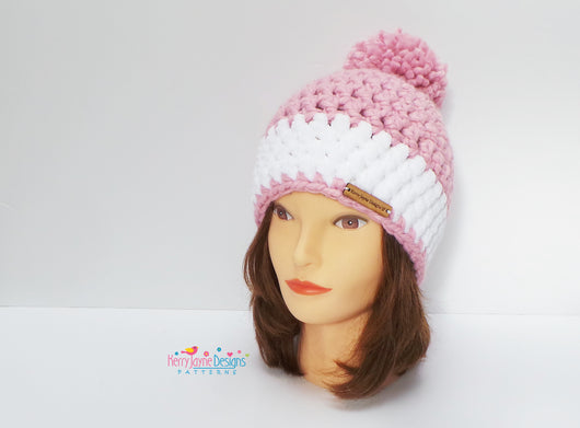 Nordic Snow Hat Crochet Pattern Kerry Jayne Designs