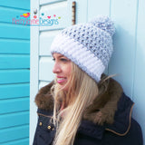 Nordic Snow Hat Crochet Pattern USA