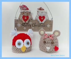 Owl and Teddy Hat Patterns