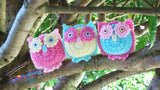 Owl Basket and Bunting Crochet Pattern USA