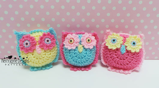 Amigurumi Quetzal : Owl basket and bunting crochet pattern u2013 kerry jayne designs