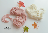 Puff stitch crochet mittens