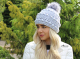 Bobble stitch hat crochet pattern