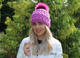 Puff stitch hat pattern