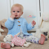 bobble stitch baby Jacket crochet pattern