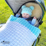 Puff Perfection Blanket and Hat Pattern USA