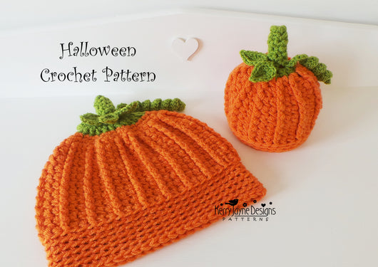 Pumpkin Hat Crochet Pattern Uk Kerry Jayne Designs