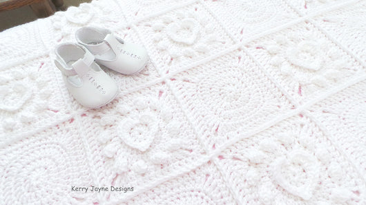 Pure Love Baby Blanket Crochet Pattern USA