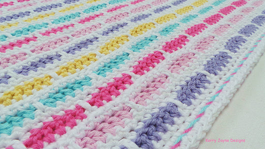 Rainbow Bricks Baby Crochet Blanket
