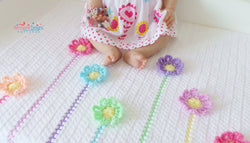 Flower blanket crochet pattern