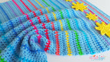 Rainbow stripes blanket crchet pattern