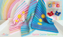 Razzle Dazzle Rainbow Blanket and Hat